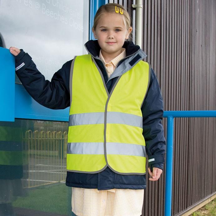 Kinder Sicherheitsweste Warnweste von RESULT  RE R200J JUNIOR SAFETY VEST
